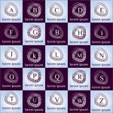 Συρμένο χέρι καλλιγραφικό συνόρων σύνολο προτύπων λογότυπων διανυσματικό Στοκ εικόνα με δικαίωμα ελεύθερης χρήσης