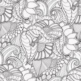 Συρμένο χέρι καλλιτεχνικό εθνικό διακοσμητικό διαμορφωμένο floral πλαίσιο Στοκ Εικόνες
