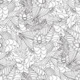 Συρμένο χέρι καλλιτεχνικό εθνικό διακοσμητικό διαμορφωμένο floral πλαίσιο Στοκ φωτογραφία με δικαίωμα ελεύθερης χρήσης