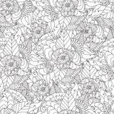Συρμένο χέρι καλλιτεχνικό εθνικό διακοσμητικό διαμορφωμένο floral πλαίσιο Στοκ Φωτογραφία