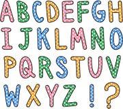 Συρμένο χέρι κείμενο αλφάβητου Στοκ εικόνα με δικαίωμα ελεύθερης χρήσης
