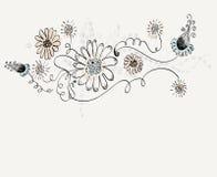 συρμένο χέρι λουλουδιών Στοκ εικόνες με δικαίωμα ελεύθερης χρήσης