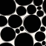 Συρμένο χέρι μαύρο άνευ ραφής σχέδιο σημείων Διανυσματική ανασκόπηση στοκ φωτογραφία με δικαίωμα ελεύθερης χρήσης