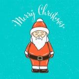 Συρμένο χέρι νέο εικονίδιο Άγιου Βασίλη περιλήψεων έτους για τα Χριστούγεννα και το νέο σχέδιο διακοπών έτους, πρόσκληση, ευχετήρ ελεύθερη απεικόνιση δικαιώματος
