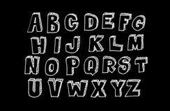 Συρμένο χέρι ογκομετρικό abc, doodle ύφος Στοκ Εικόνα
