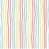 Συρμένο χέρι οριζόντιο λωρίδων χρώμα κρητιδογραφιών σχεδίων εκλεκτής ποιότητας μαλακό άνευ ραφής απεικόνιση αποθεμάτων
