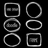Συρμένο χέρι πλαίσιο μολυβιών doodle Έννοια σχεδίου σκίτσων Στοκ εικόνα με δικαίωμα ελεύθερης χρήσης