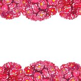 Συρμένο χέρι ρομαντικό πρότυπο Watercolor των λουλουδιών ελεύθερη απεικόνιση δικαιώματος
