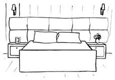 Συρμένο χέρι σκίτσο Γραμμικό σκίτσο ενός εσωτερικού σκίτσο Στοκ εικόνα με δικαίωμα ελεύθερης χρήσης