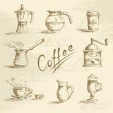 Συρμένο χέρι σκίτσο καφέ Στοκ εικόνα με δικαίωμα ελεύθερης χρήσης