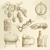 Συρμένο χέρι σκίτσο μπύρας Στοκ Εικόνες