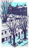 Συρμένο χέρι σκίτσο πόλεων για το σχέδιό σας Πέρα από την καλλιτεχνική εικόνα άποψης της Οδησσός Ουκρανία Στοκ εικόνες με δικαίωμα ελεύθερης χρήσης