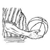 Συρμένο χέρι σκίτσο doodle απεικόνισης διανυσματικό του διαιτητή κινηματογραφήσεων σε πρώτο πλάνο Στοκ εικόνες με δικαίωμα ελεύθερης χρήσης