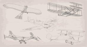 Συρμένο χέρι στοιχείων ελικόπτερο αεροπορικών μεταφορών αντικειμένου εκλεκτής ποιότητας, σχέδιο Στοκ Εικόνες