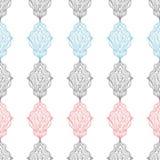 Συρμένο χέρι σχέδιο διακοσμήσεων Διανυσματικό γεωμετρικό άνευ ραφής υπόβαθρο tracery Στοκ εικόνα με δικαίωμα ελεύθερης χρήσης