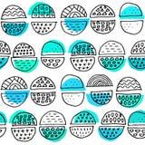 Συρμένο χέρι σχέδιο με τις απλές γεωμετρικές μορφές Στοκ Εικόνα