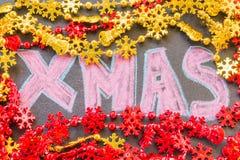 Συρμένο χέρι σχέδιο Χριστουγέννων Στοκ φωτογραφίες με δικαίωμα ελεύθερης χρήσης