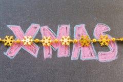 Συρμένο χέρι σχέδιο Χριστουγέννων Στοκ Φωτογραφίες
