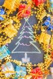 Συρμένο χέρι σχέδιο Χριστουγέννων Στοκ εικόνα με δικαίωμα ελεύθερης χρήσης