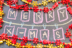 Συρμένο χέρι σχέδιο Χριστουγέννων Στοκ Εικόνες