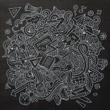 Συρμένο χέρι σχολείο doodles κινούμενων σχεδίων διανυσματικό περιγραμματικό Στοκ εικόνες με δικαίωμα ελεύθερης χρήσης