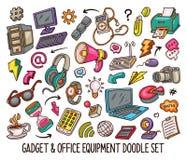 Συρμένο χέρι σύνολο συσκευής doodles στα χρώματα διανυσματικός-01 απεικόνιση αποθεμάτων