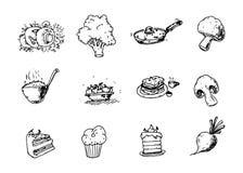 Συρμένο χέρι σύνολο υγιούς διανύσματος συστατικών τροφίμων doodles illustr απεικόνιση αποθεμάτων