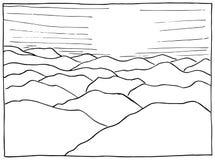 Συρμένο χέρι τοπίο Στοκ εικόνα με δικαίωμα ελεύθερης χρήσης