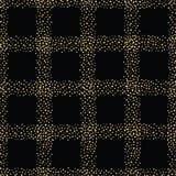 Συρμένο χέρι τυχαίο χρυσό sparkly σχέδιο πλέγματος Άνευ ραφής γεωμετρικό διανυσματικό σχέδιο στο μαύρο υπόβαθρο Μεγάλος για τη συ ελεύθερη απεικόνιση δικαιώματος