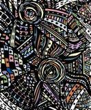 Συρμένο χέρι υπόβαθρο κινούμενων σχεδίων doodles πρότυπο άνευ ραφής Στοκ φωτογραφίες με δικαίωμα ελεύθερης χρήσης