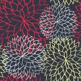 Συρμένο χέρι υπόβαθρο σχεδίων λουλουδιών άνευ ραφής ελεύθερη απεικόνιση δικαιώματος