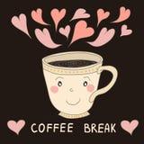 Συρμένο χέρι φλυτζάνι καφέ ελεύθερη απεικόνιση δικαιώματος