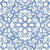 Συρμένο χέρι arabesque άνευ ραφής κεραμίδι σχεδίων Στοκ εικόνες με δικαίωμα ελεύθερης χρήσης