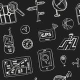 Συρμένο χέρι doodle άνευ ραφής σχέδιο ναυσιπλοΐας ελεύθερη απεικόνιση δικαιώματος