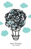 Συρμένο χέρι doodle μπαλόνι Στοκ εικόνες με δικαίωμα ελεύθερης χρήσης