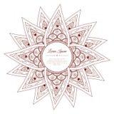 Συρμένο χέρι doodle πλαίσιο του Paisley Στοκ φωτογραφίες με δικαίωμα ελεύθερης χρήσης