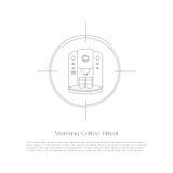 Συρμένο χέρι doodle πλαίσιο του Paisley Στοκ εικόνες με δικαίωμα ελεύθερης χρήσης