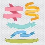Συρμένο χέρι doodle σύνολο κορδελλών. Στοκ εικόνα με δικαίωμα ελεύθερης χρήσης