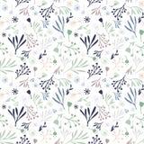 Συρμένο χέρι doodle floral σχέδιο Στοκ φωτογραφία με δικαίωμα ελεύθερης χρήσης
