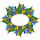 Συρμένο χέρι floral πλαίσιο doodle Στοκ εικόνες με δικαίωμα ελεύθερης χρήσης