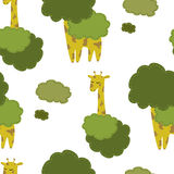 Συρμένο χέρι giraffes υπόβαθρο Στοκ φωτογραφίες με δικαίωμα ελεύθερης χρήσης