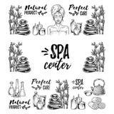 Συρμένο χέρι vector pattern SPA και ομορφιά Στοκ φωτογραφία με δικαίωμα ελεύθερης χρήσης