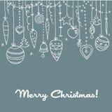 συρμένο Χριστούγεννα χέρι &a απεικόνιση αποθεμάτων