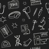 Συρμένο doodle χέρι άνευ ραφής σχέδιο βιοχημείας σκίτσα Διανυσματική απεικόνιση για το σχέδιο και το προϊόν συσκευασιών σύμβολο διανυσματική απεικόνιση
