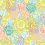 συρμένο floral πρότυπο χεριών άνευ ραφής Στοκ Εικόνες