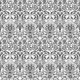 συρμένο floral πρότυπο χεριών άνευ ραφής Στοκ Φωτογραφίες