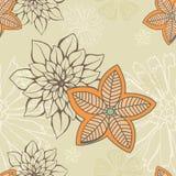 συρμένο floral πρότυπο χεριών άνε διανυσματική απεικόνιση