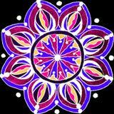 Συρμένο mandala μορφής λουλουδιών μανδρών πηκτωμάτων χέρι ελεύθερη απεικόνιση δικαιώματος