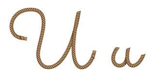 Συρμένο U επιστολών σχοινιών το χέρι ελεύθερη απεικόνιση δικαιώματος
