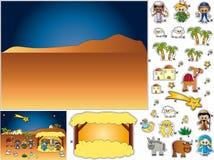 συρραφή nativity αποκοπών διανυσματική απεικόνιση